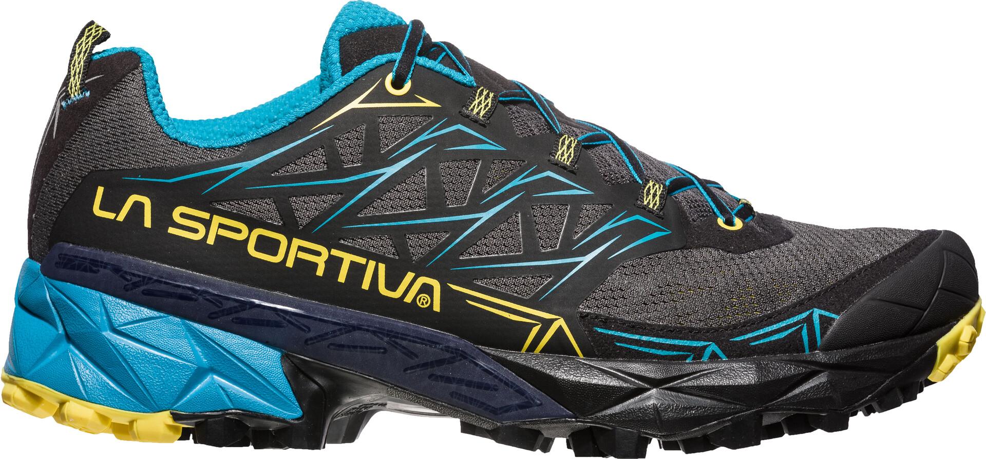 La Sportiva Akyra Scarpe da corsa Uomo, carbon/tropic blue su Addnature CIdbn